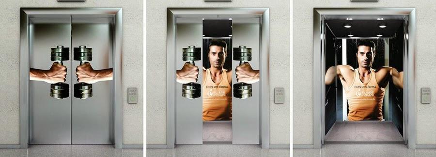 ascensor publicidad