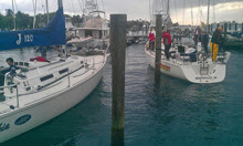 J/120 sailboats- offshore racer cruiser sailing boats at Palm Beach, FL