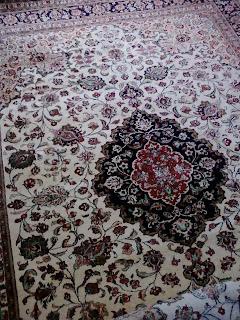 クム産 シルク ペルシャ絨毯 買取