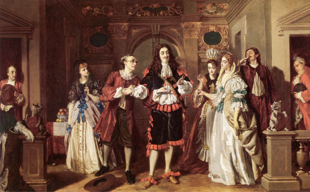 William Powell Frith - A scene from Moliere's L'Avare