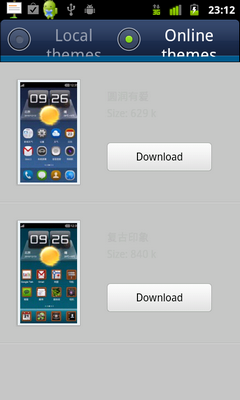 Downloadable themes for Miui Launcher