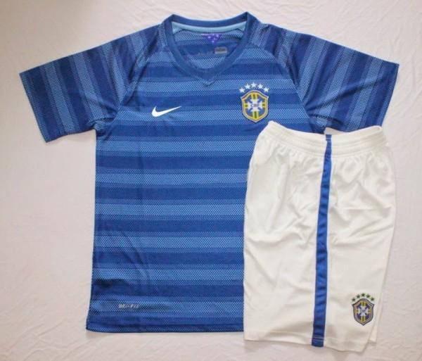 Jual Jersey Bola Anak Brazil Away Piala Dunia 2014
