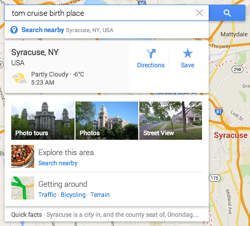 Google Maps Smart Search