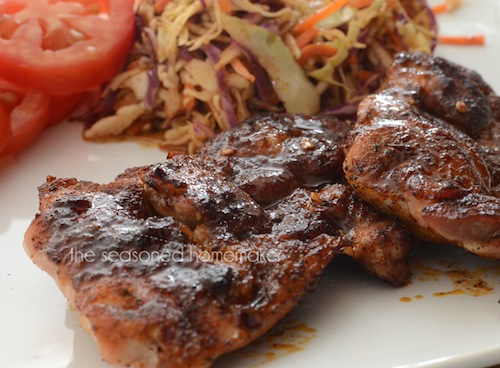Extra Spicy Honey-Glazed Chicken by The Seasoned Homemaker