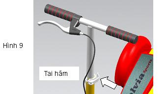 Xe trượt scooter đạp chân Wing A 16
