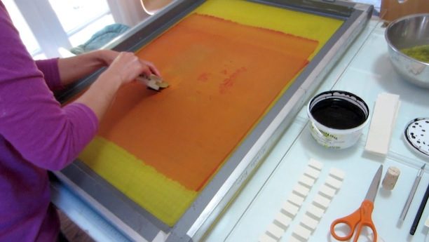 silkscreening process with michelle mikko kim of cub report card