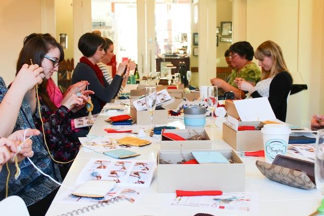 assemble shop crochet seattle bloggers meetup with pop-up shop craft + chat