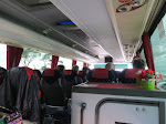 Inside our bus coach