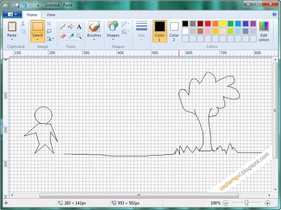 mspaint win7 - Phần mềm Paint trong win 7