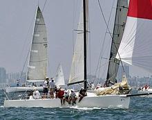 J/125 performance sailboat- DERIVATIVE sailing fast downwind
