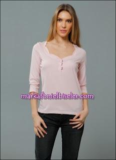 markafoni Marks and Spencer pembe bluz modelleri