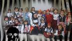 Los piratas de 4C con su bucanera Mª Ángeles