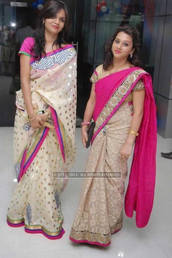 Swati and Shraddha Gupta at Vishal Barbate's do at Nag road in Nagpur.