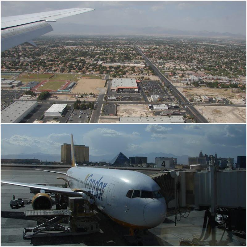 Landung in Las Vegas