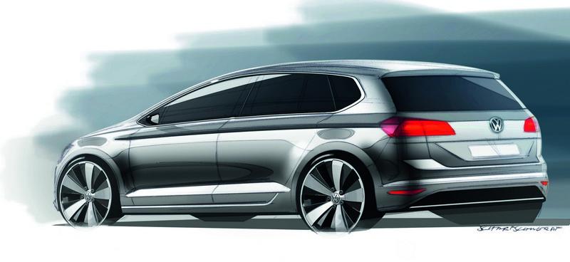 frankfurt 2013 volkswagen golf sportsvan concept. Black Bedroom Furniture Sets. Home Design Ideas