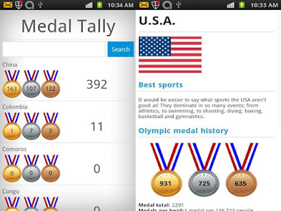 """London 2012 Calendar & Medals Android Apps Free"""