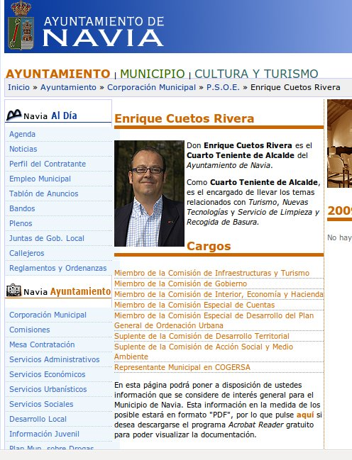 Censura castrista del #PSOE en #Navia #Asturias #España increible, pero cierto Cuetoscargos