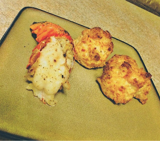 Lobster tails and imposter Red Lobster cheese biscuits