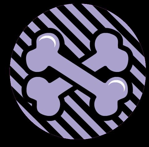 Monster High: Logotipo de Clawdeen (huesos)