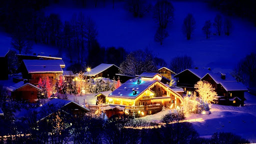 Christmas Time at a Ski Resort, Savoie, France.jpg