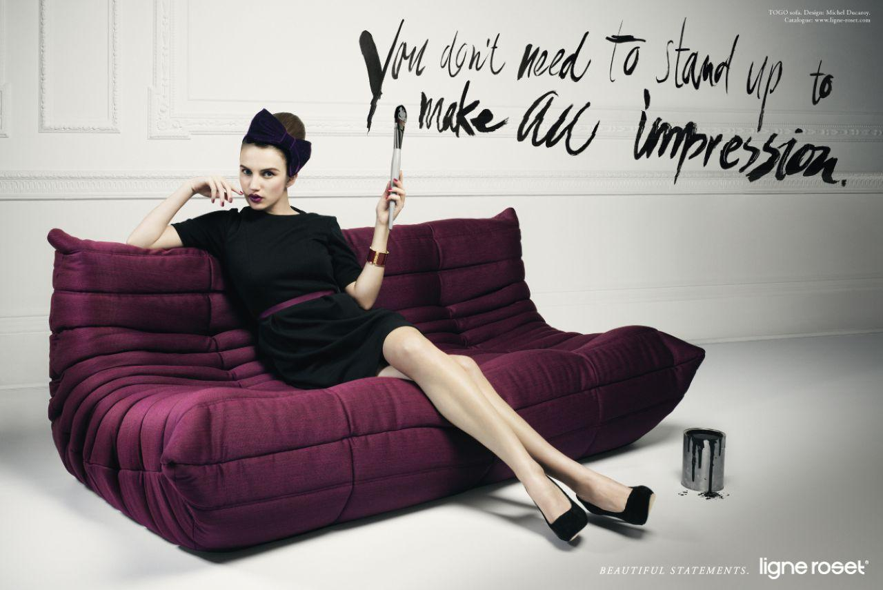 ad campaign ligne roset furniture campaign by jvm. Black Bedroom Furniture Sets. Home Design Ideas
