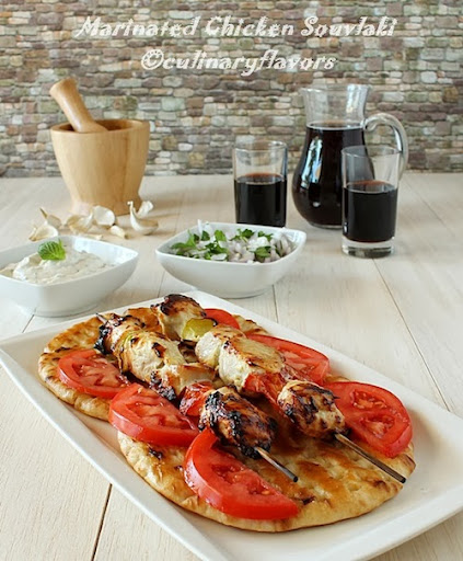 Yogurt Marinated Chicken Souvlaki by Culinary Flavors