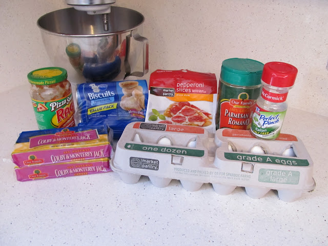 ingredients for making pizza balls