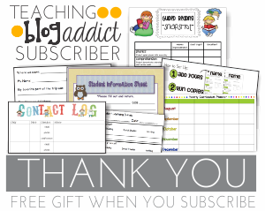 Teaching Blog Addict Free Subscriber Gift
