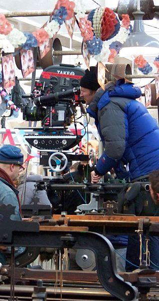 tom hooper king. Tom Hooper operating a camera