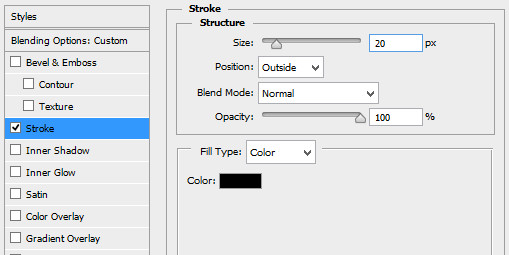 layer style stroke