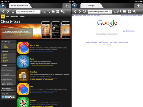 MultiWeb browser for iPad