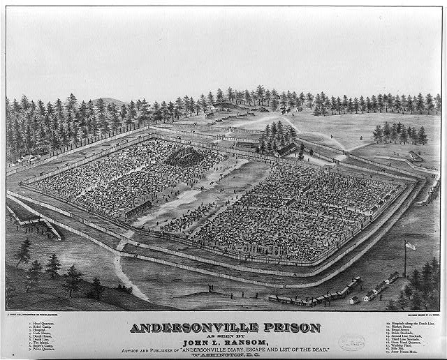 Birdseye of the Andersonville P.O.W. camp