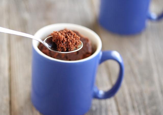 photo of a spoonful of Chocolate Mug Cake