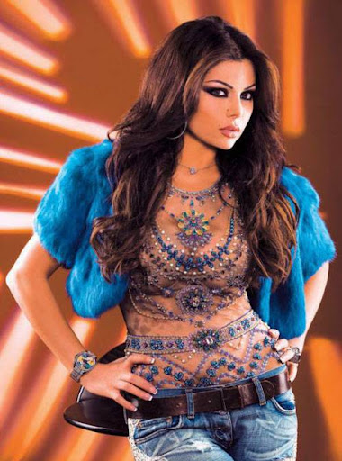 Arab Model Haifaa Wehbe lovely dress