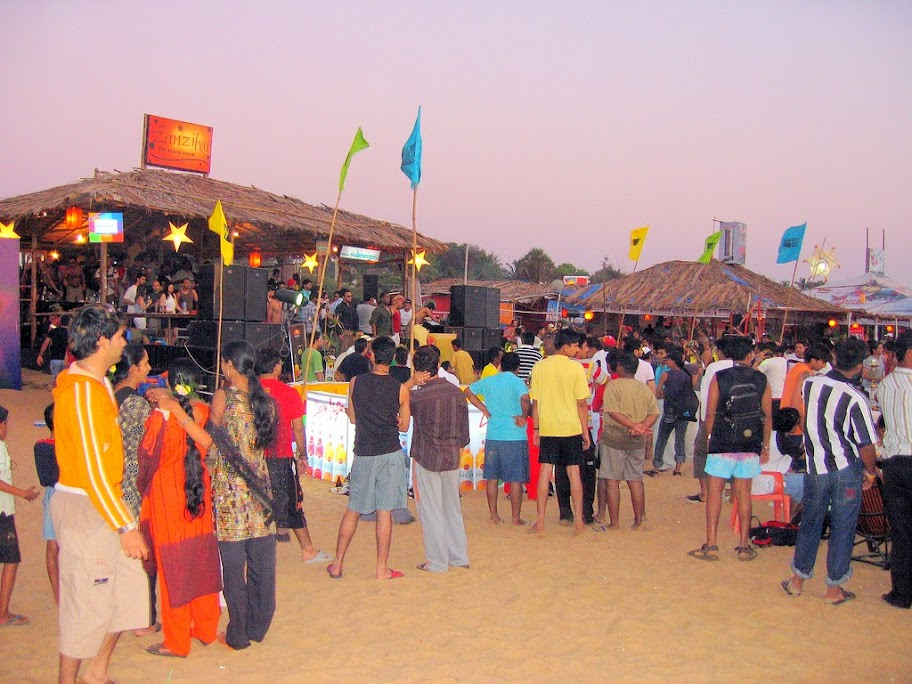 Baga Beach is the core of nightlife in Goa