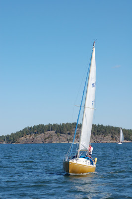 Sailing to Finnhamn