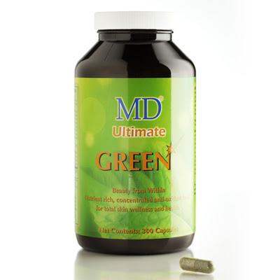 Viên Uống MD Ultimate Green hỗ trợ điều trị mụn giải độc tố, đẹp da, 100 thảo dược thiên nhiên