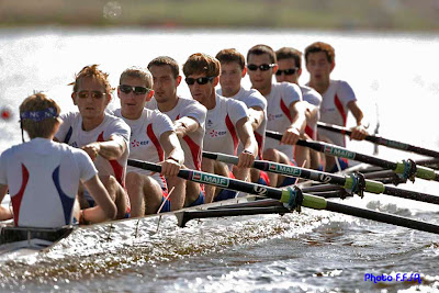 WORLD ROWING CHAMPIOSHIPS 2009POZNAN POLAND   23 AUG 09HIT DAY 2EQUIPE DE FRANCE8+HPL:N MOUTTON,C BRESCHET,B AGOSTINI,F MARTY,V CAVARD,T BAROUKH,E JONVILLE, N CORNU;BARREUR A BENNOITPHOTO©igor meijer