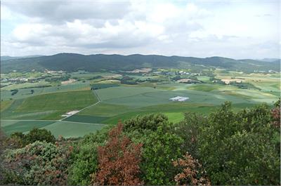 La sierra de Tuio vista desde la cima de Montemayor