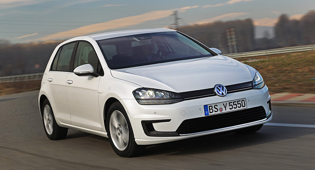Early Reveal For New All Electric Volkswagen Golf E Mk7