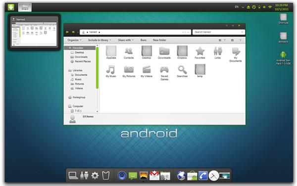 tema android windows 7