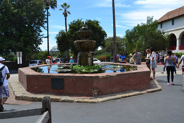 the Moorish fountain with a few lily pads