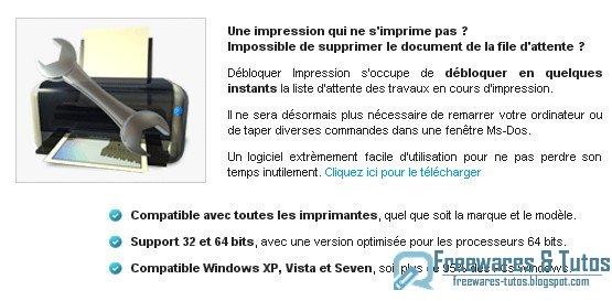 Débloquer Impression : un logiciel gratuit pour débloquer la file d'attente de votre imprimante