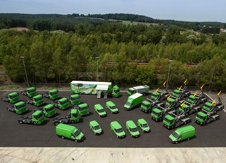 Flota 34 pojazdów CNG należąca do zakładu usług komunalnych w Sydeme (Francja)