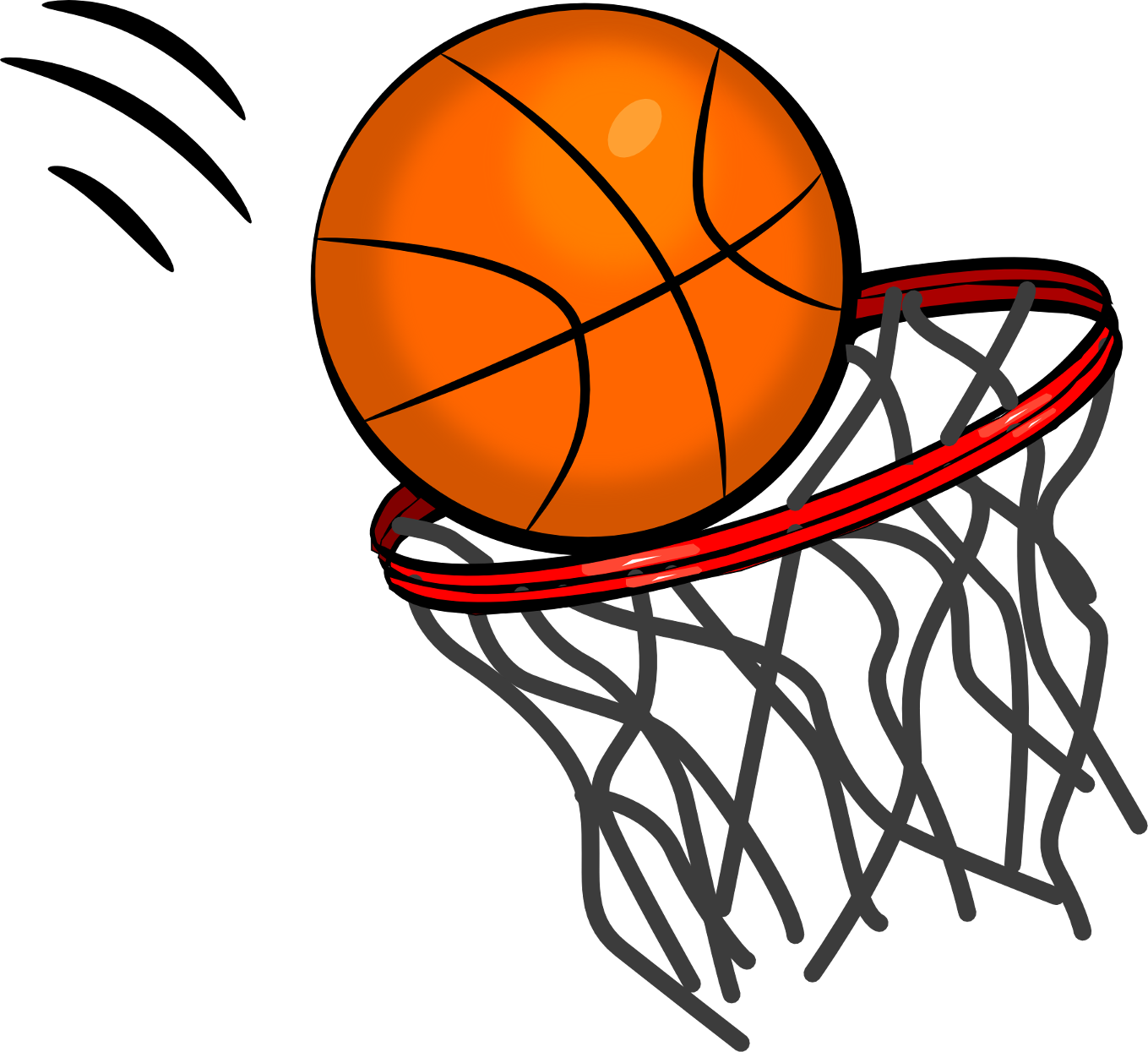 Clipart of a basketball illustration image