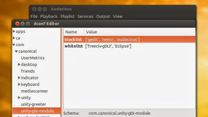 Ubuntu 14.04: nueva opción para desactivar el menú global
