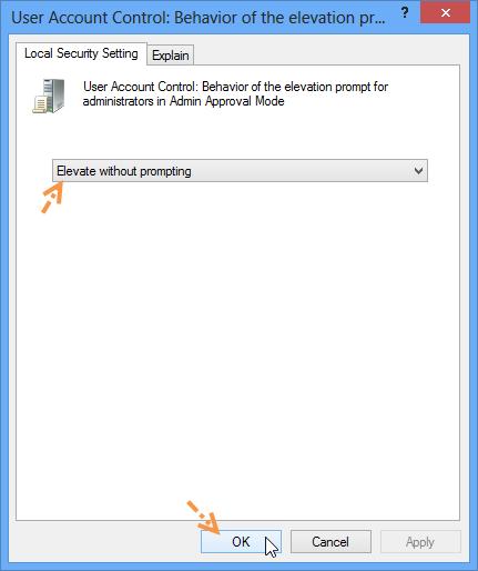 ปิดการทำงานของ Destination Folder Access Denide W8disacc05