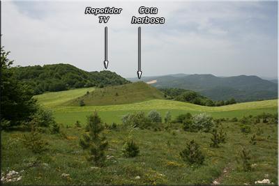 Vista de la antena hacia donde nos dirigimos