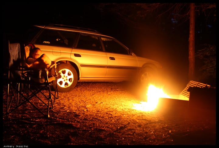 campfire light