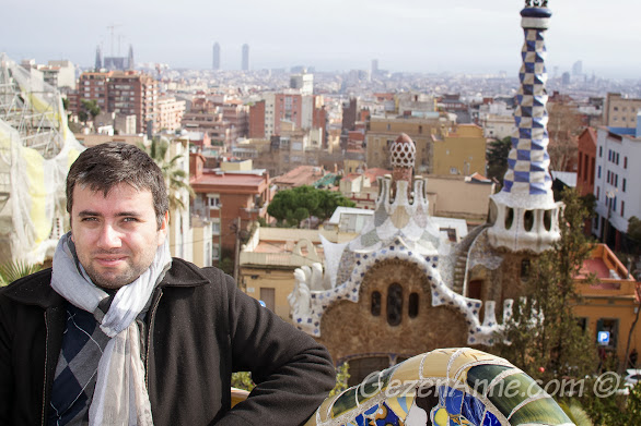 Park Güell'de Barcelona manzarası